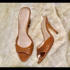 ElieTahari open toed slide heels
